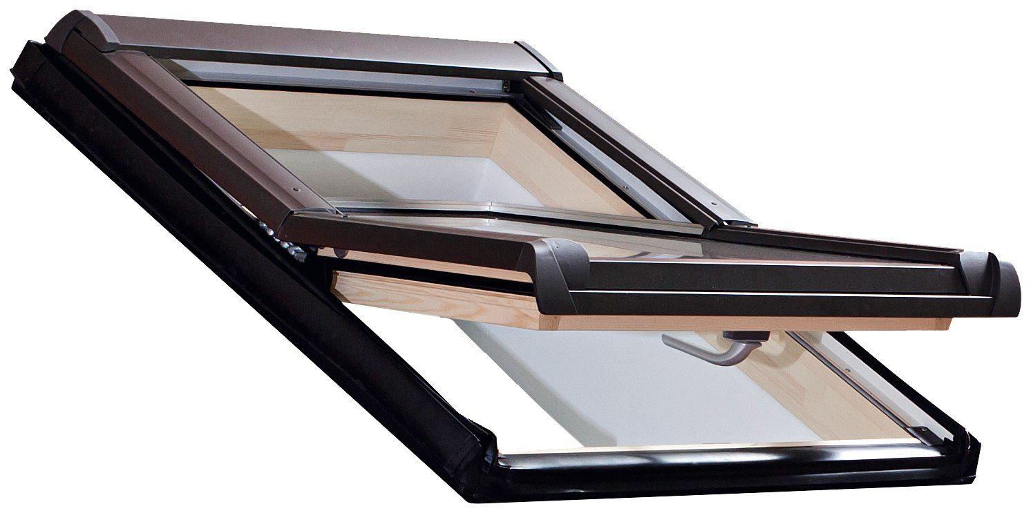 RORO Dachfenster »Typ DHE215«, BxH: 94x140 cm, kieferfarben