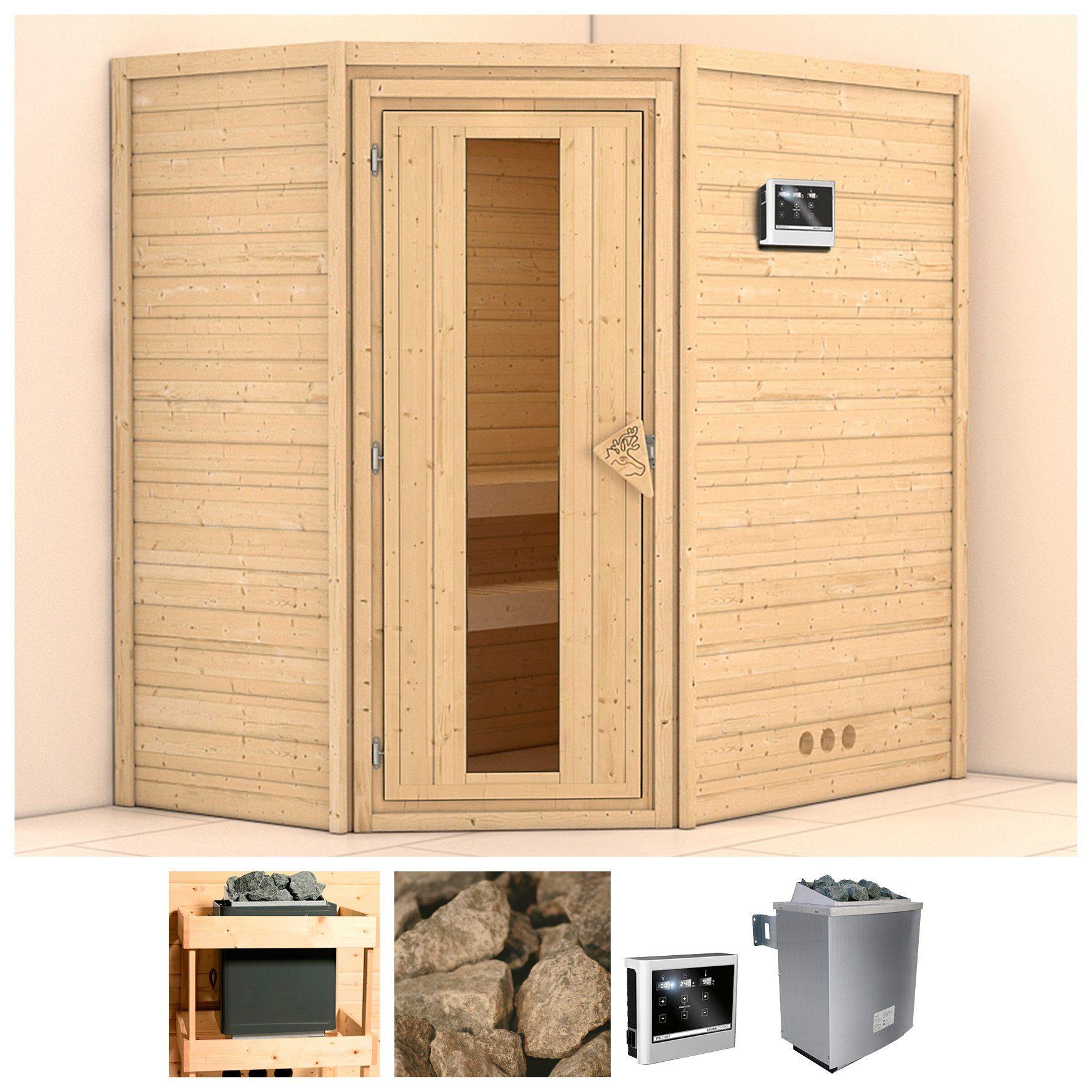KONIFERA Sauna »Svea«, 196/146/200 cm, 9-kW-Ofen mit ext. Steuerung, Holztür