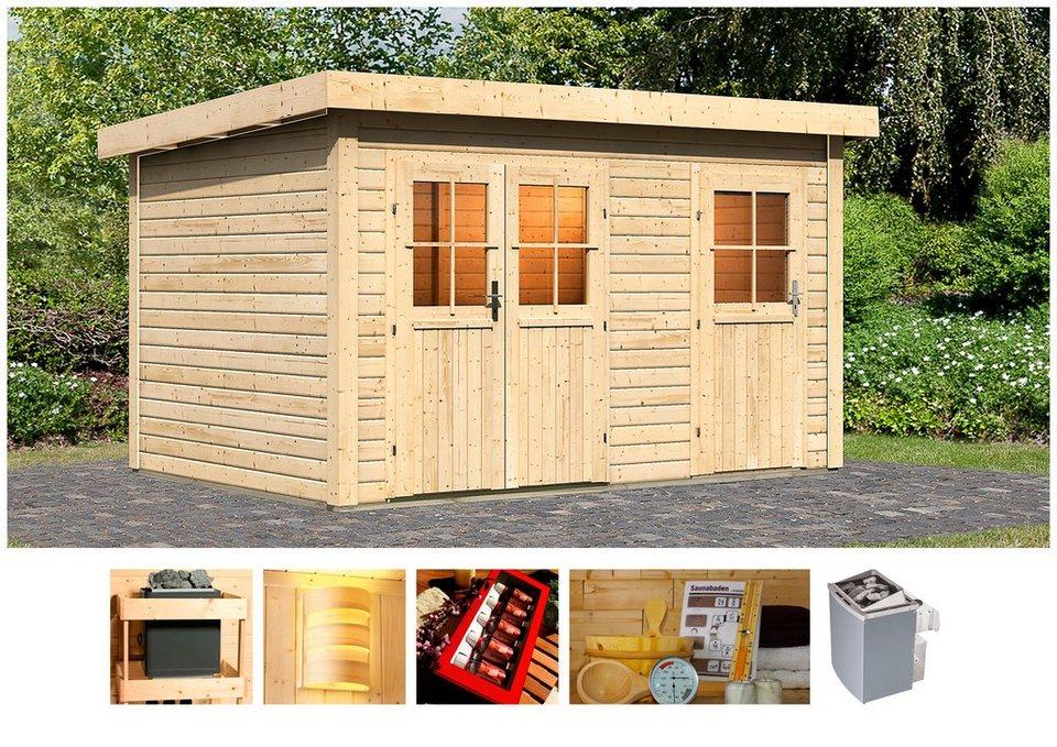 karibu saunahaus franz 366 246 227 cm 9 kw ofen mit int steuerung online kaufen otto. Black Bedroom Furniture Sets. Home Design Ideas