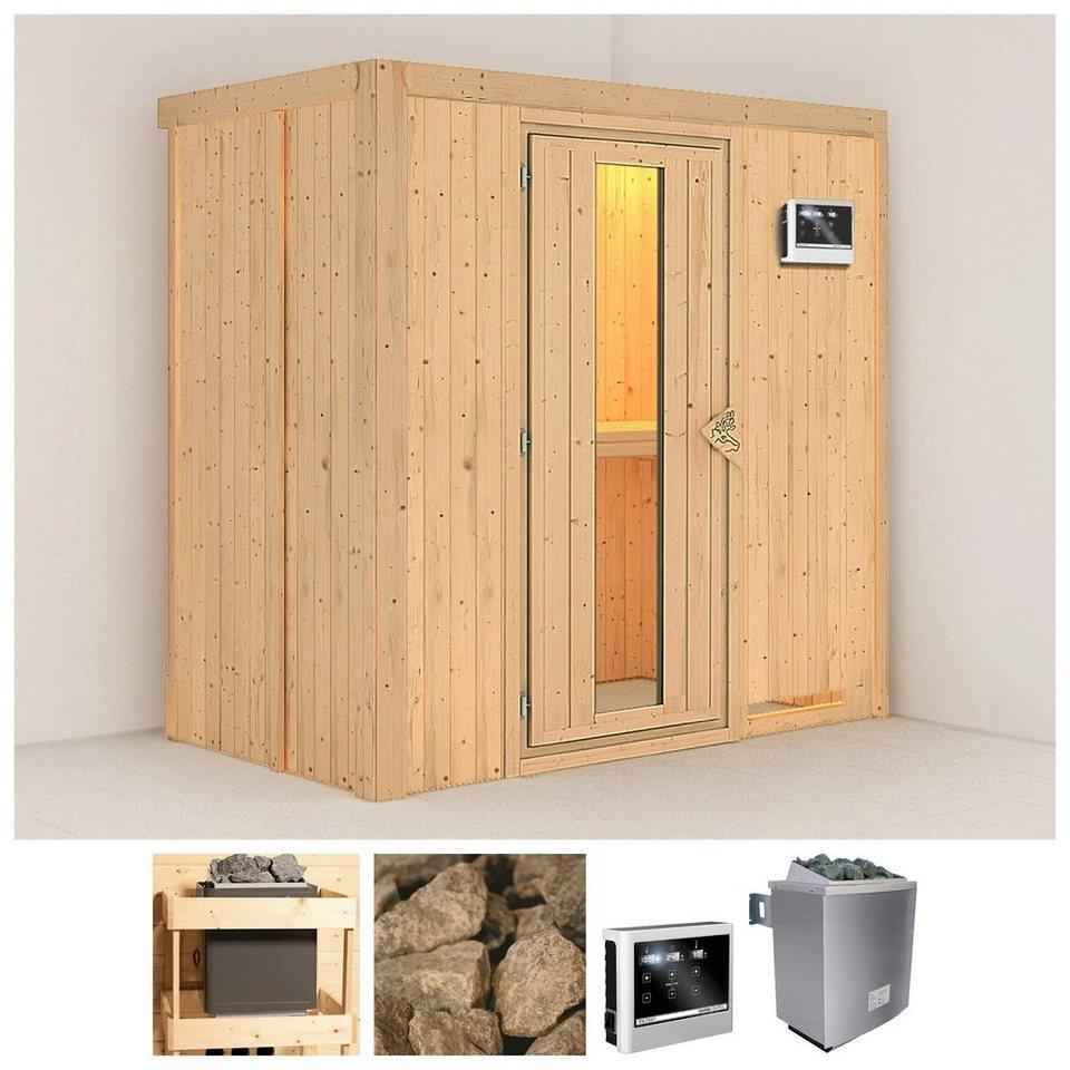 konifera sauna variado 196 118 198 cm 9 kw ofen mit ext steuerung holzt r online kaufen otto. Black Bedroom Furniture Sets. Home Design Ideas