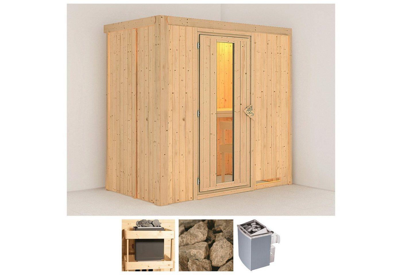 KONIFERA Sauna »Variado«, 196/118/198 cm, 9-kW-Ofen mit int. Steuerung, Holztür   Bad > Sauna & Zubehör > Saunen   Edelstahl   KONIFERA