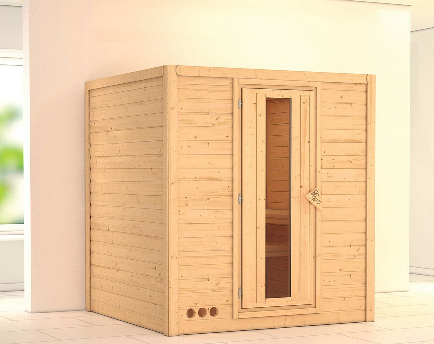 KARIBU Sauna »Mojave«, 193/184/209 cm, ohne Ofen, Holztür