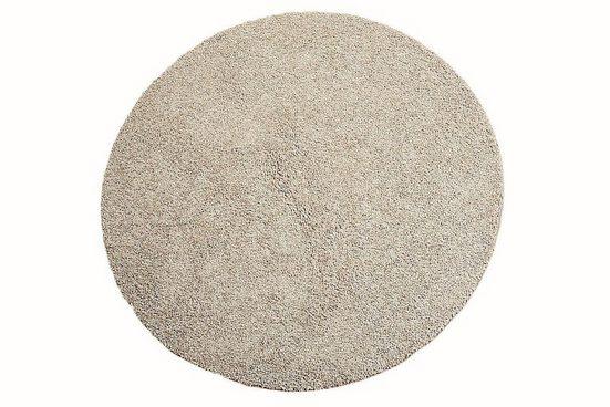 Hochflor-Teppich »Comtesse«, Living Line, rund, Höhe 30 mm, besonders weich durch Microfaser