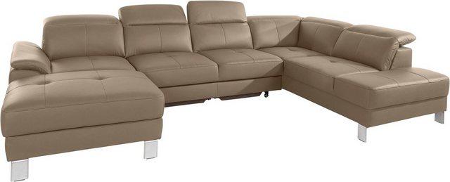 exxpo - sofa fashion Wohnlandschaft, wahlweise mit Bettfunktion | Wohnzimmer > Sofas & Couches > Wohnlandschaften | Braun | exxpo - sofa fashion