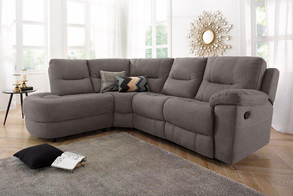 ecksofa mit recliner funktion online kaufen otto. Black Bedroom Furniture Sets. Home Design Ideas