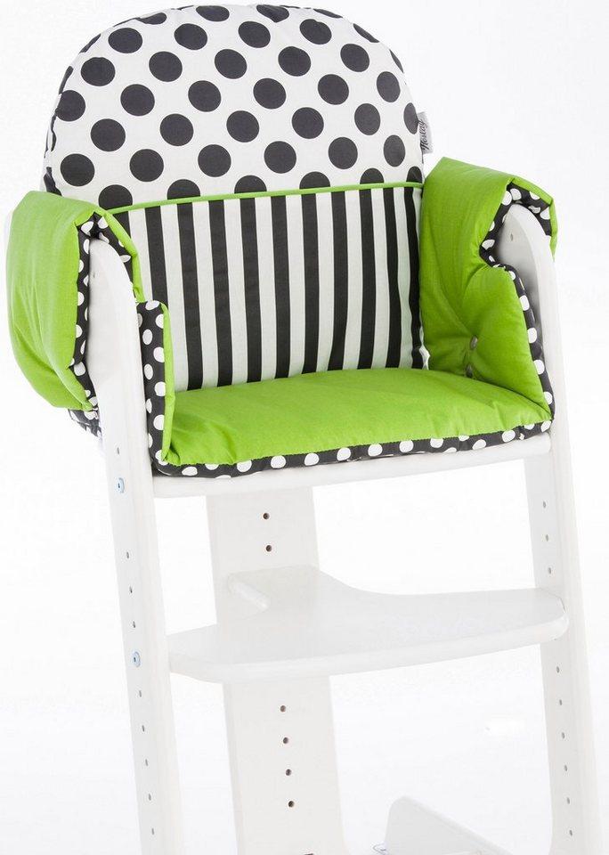 herlag sitzpolster f r hochstuhl tipp topp iv gr n schwarz wei online kaufen otto. Black Bedroom Furniture Sets. Home Design Ideas