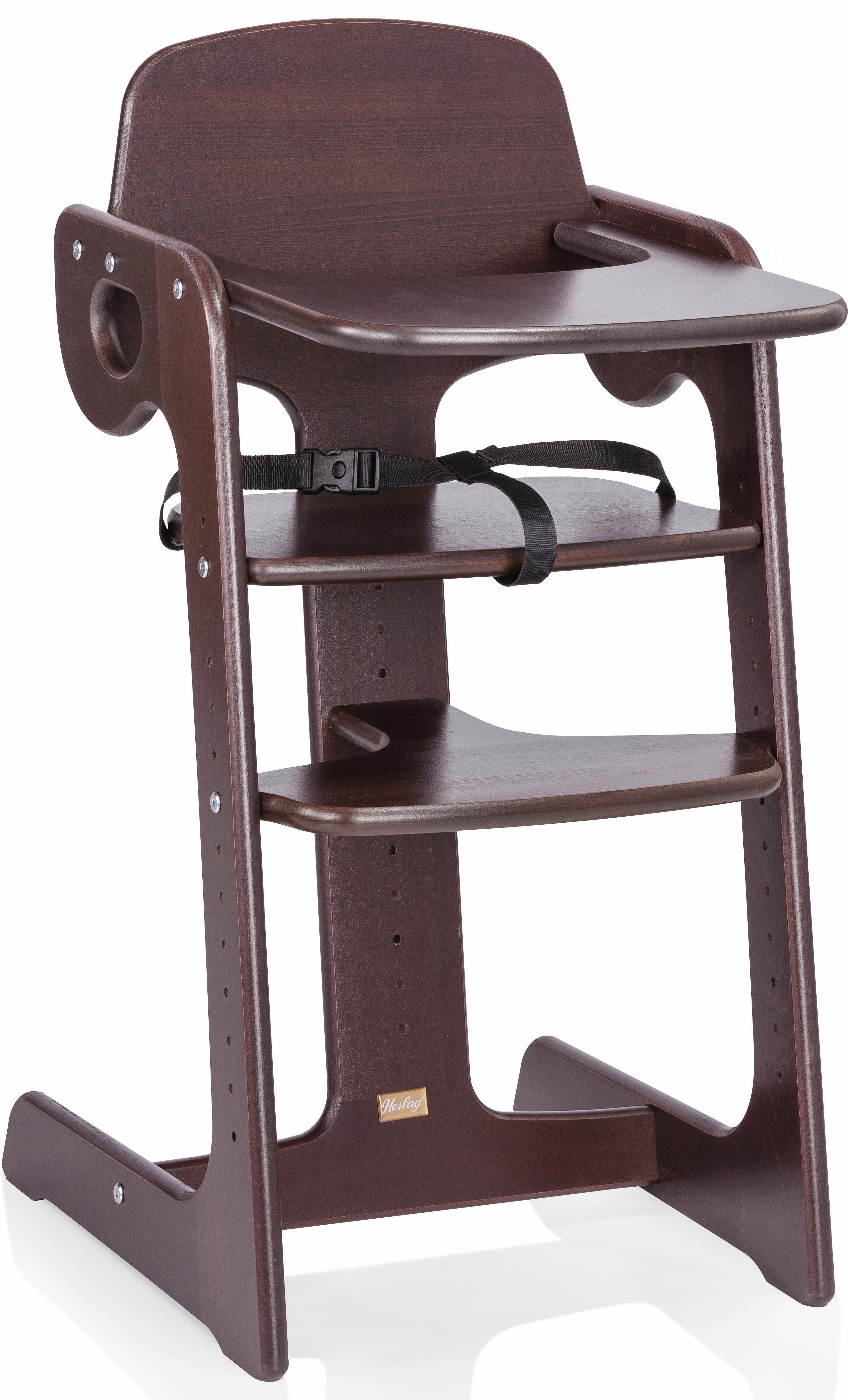 Herlag® Hochstuhl aus Holz, höhenverstellbar, »Tipp Topp IV, Buche massiv braun gebeizt« | Kinderzimmer > Kinderzimmerstühle > Hochstühle | Herlag