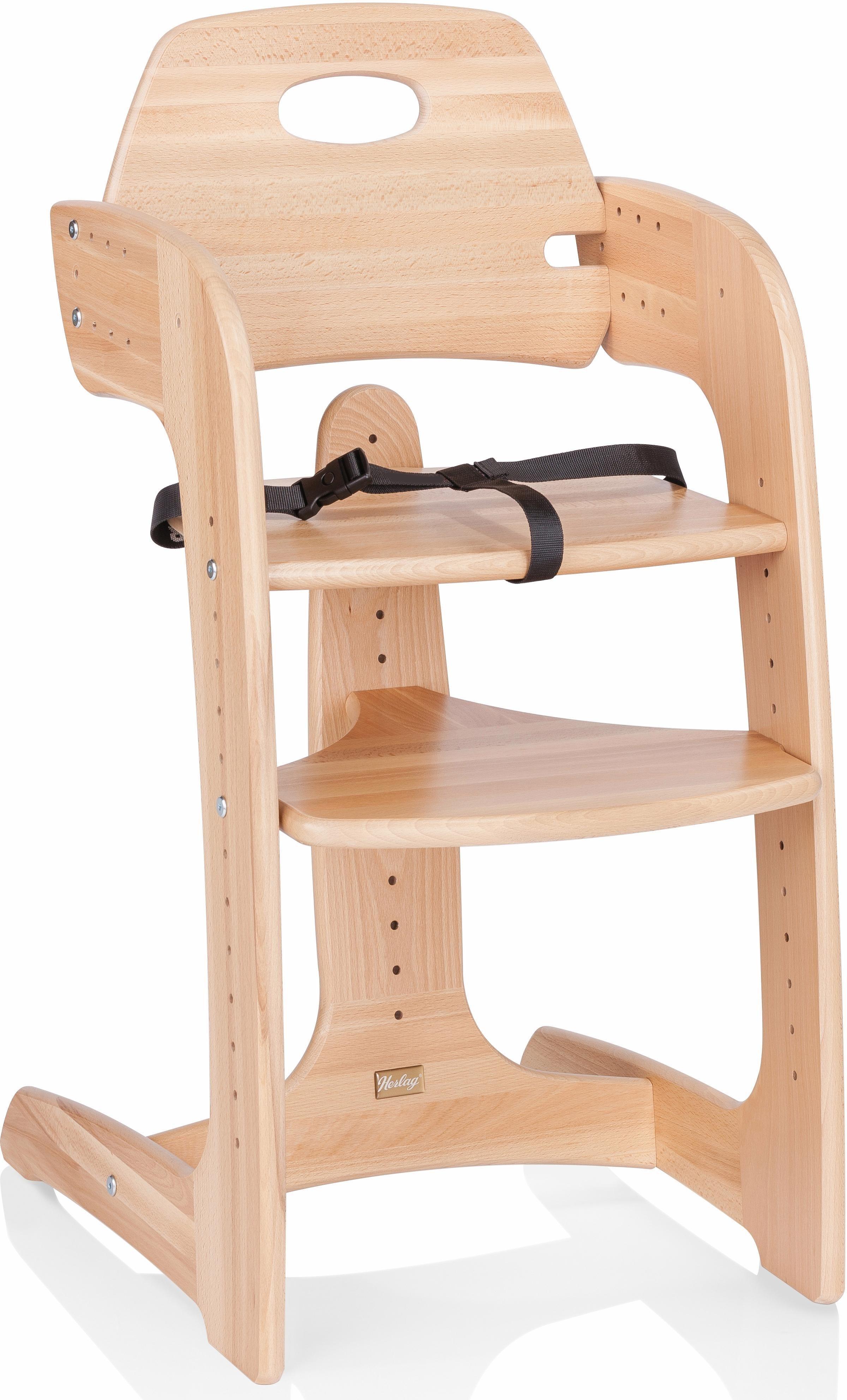 Herlag® Hochstuhl aus Holz, mit verstellb. Rückenlehne, »Tipp Topp Comfort IV, Buche massiv natur«   Kinderzimmer > Kinderzimmerstühle > Hochstühle   Herlag