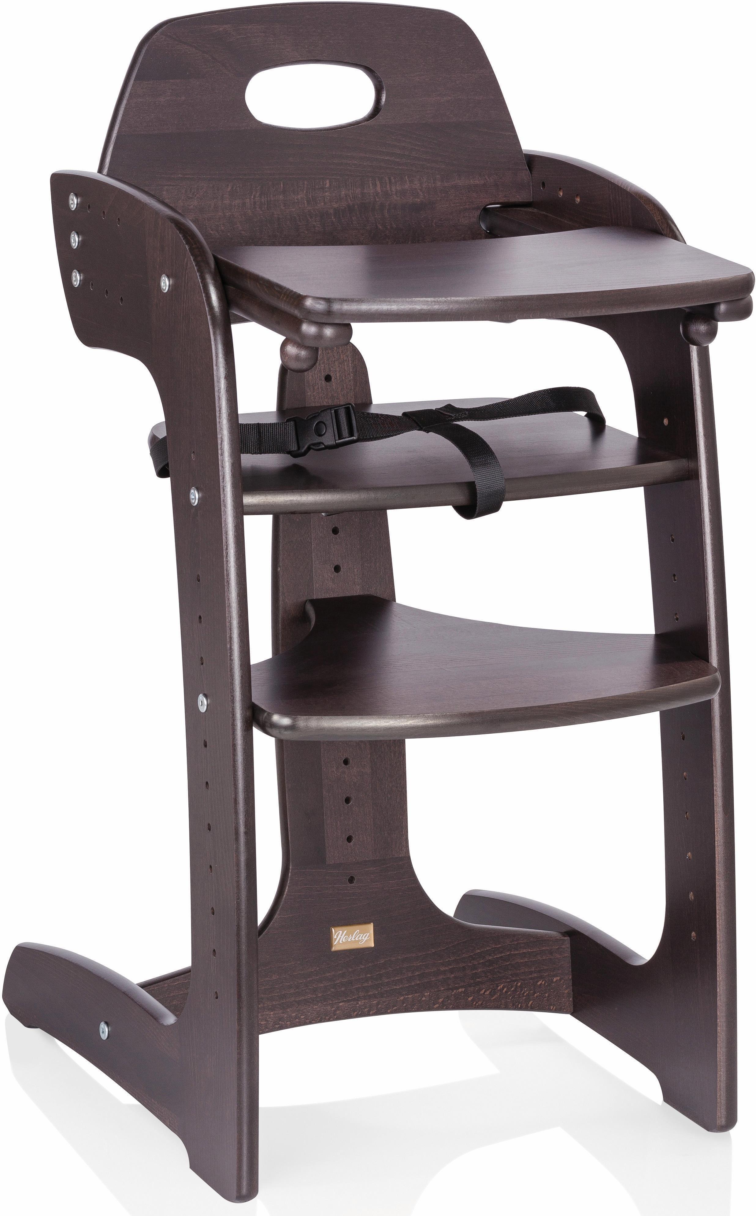 Herlag® Hochstuhl aus Holz, mit verstellb. Rückenlehne, »Tipp Topp Comfort IV, Buche massiv braun«   Kinderzimmer > Kinderzimmerstühle > Hochstühle   Herlag