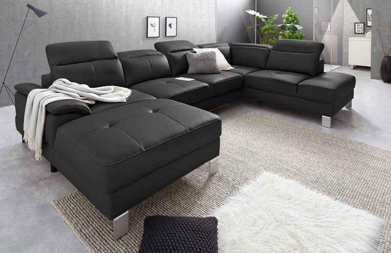 exxpo - sofa fashion Wohnlandschaft, inkl. Kopf- bzw. Rückenverstellung, wahlweise mit Bettfunktion und Bettkasten