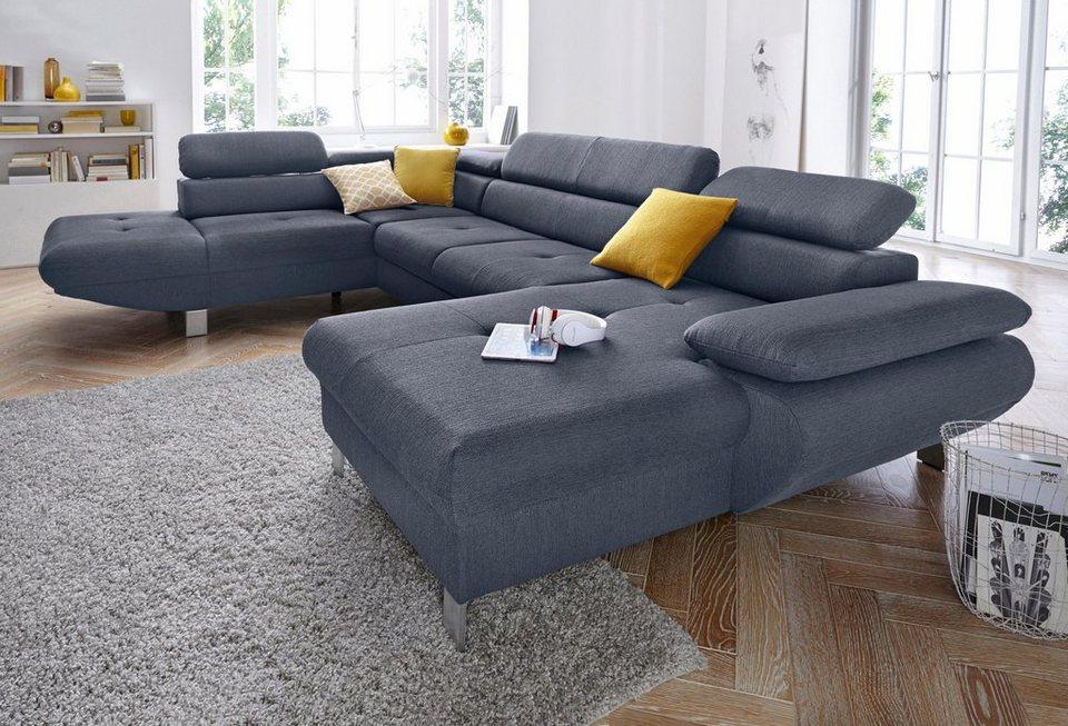 Exxpo Sofa Fashion Wohnlandschaft Wahlweise Mit Bettfunktion