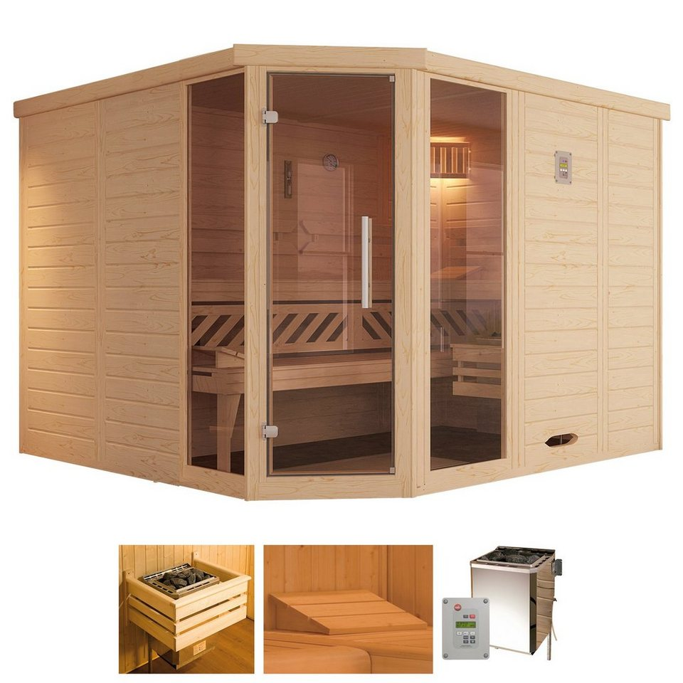 weka sauna brevik 2 238 188 199 cm 45 mm 7 5 kw bio kombiofen online kaufen otto. Black Bedroom Furniture Sets. Home Design Ideas