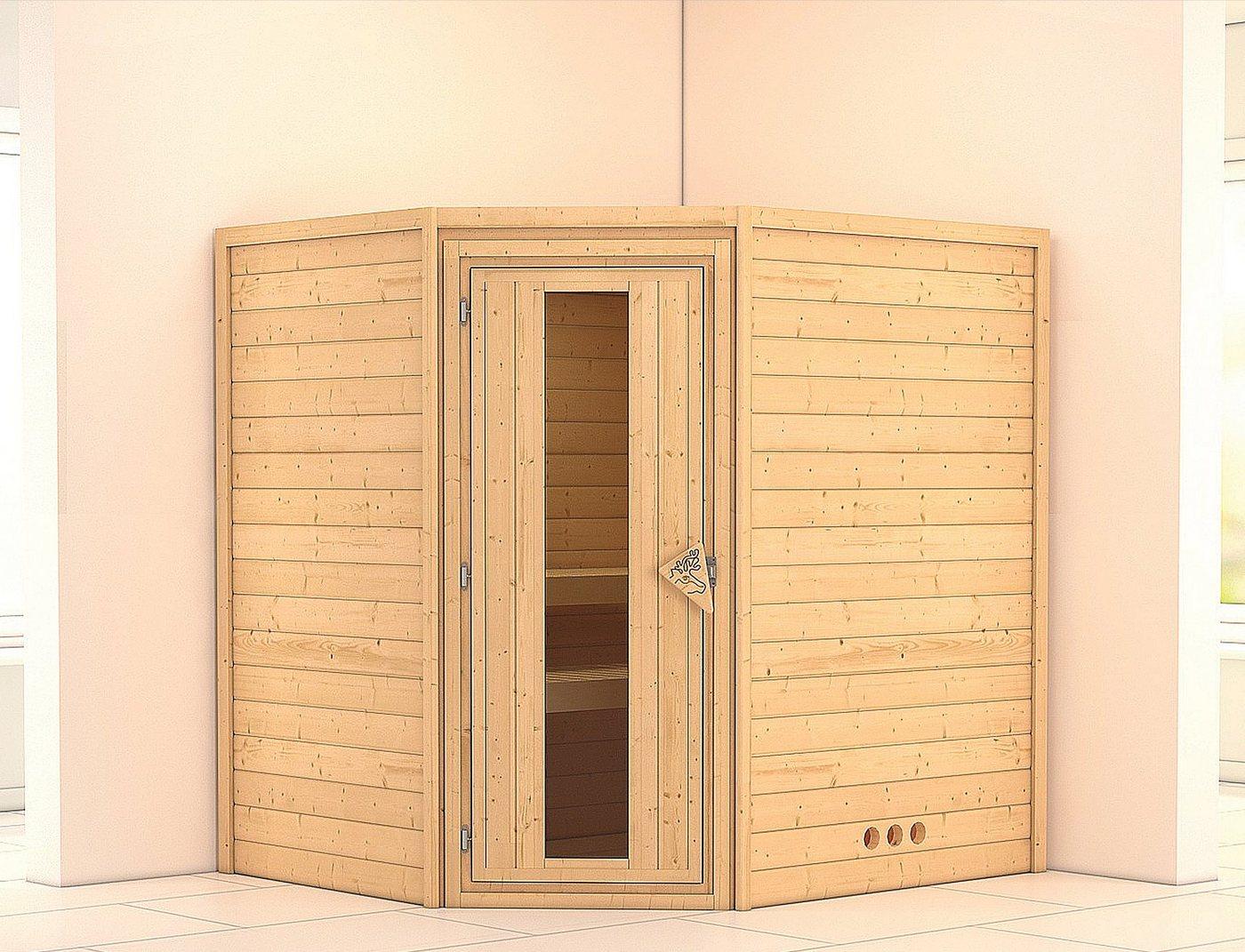 KARIBU Sauna »Mia«, 196/170/200 cm, ohne Ofen, Holztür
