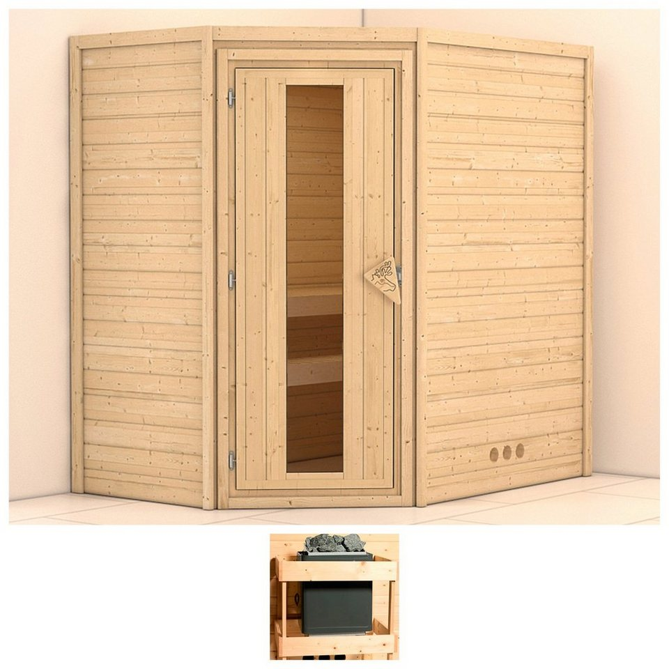konifera sauna svea 196 146 200 cm ohne ofen holzt r online kaufen otto. Black Bedroom Furniture Sets. Home Design Ideas