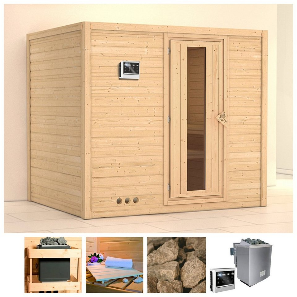 konifera sauna sonara 236 184 209 cm 9 kw bio ofen mit ext strg holzt r online kaufen otto. Black Bedroom Furniture Sets. Home Design Ideas