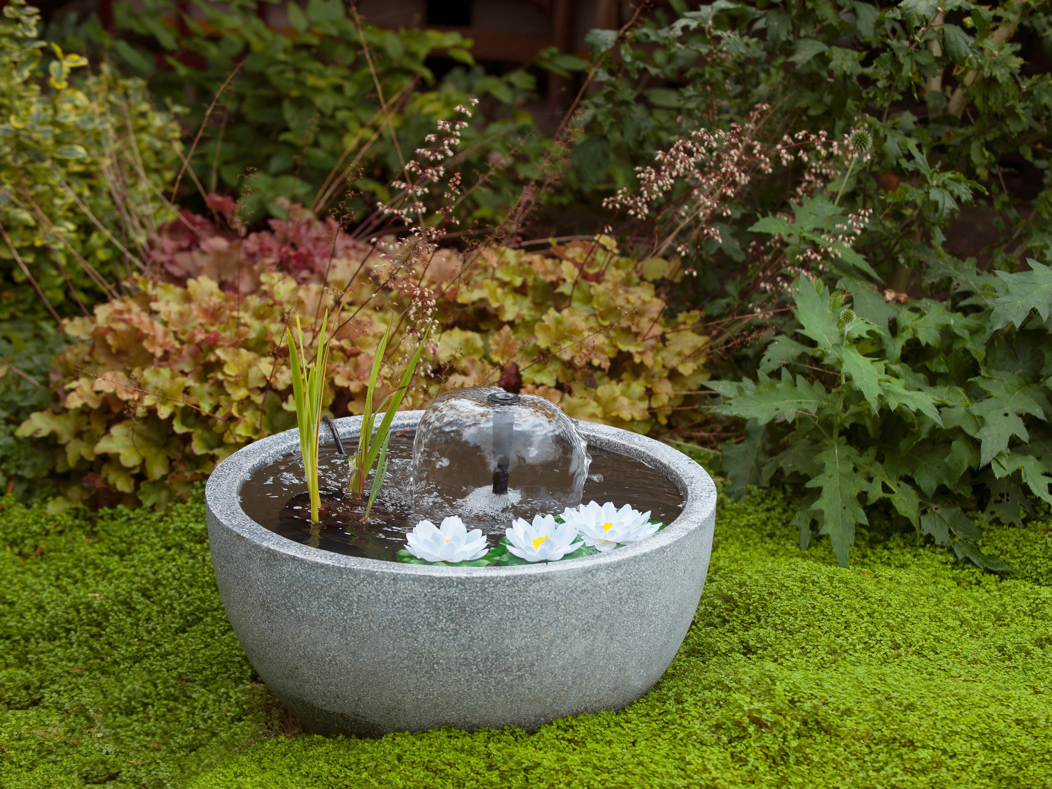 ACQUAARTE/UBBINK Wasserspiel »Mini Teichset III«, Ø/H: 55/30 cm, grau