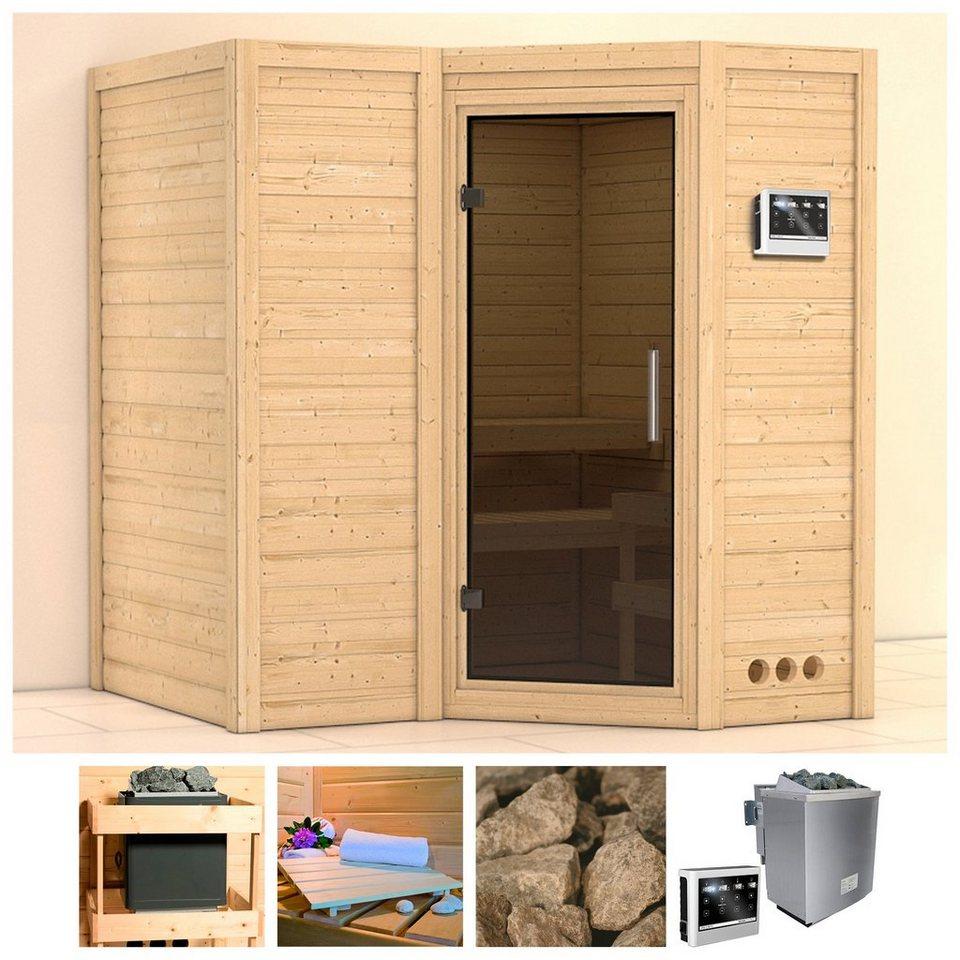 konifera sauna sahib 1 193 184 206 cm 9 kw bio ofen mit ext strg glast r grafit online. Black Bedroom Furniture Sets. Home Design Ideas