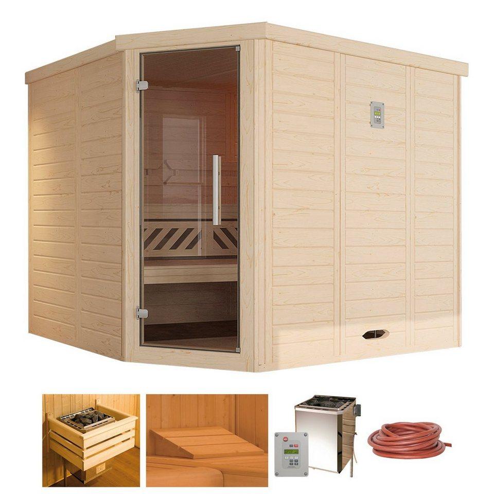 weka sauna brevik 2 238 188 199 cm 45 mm 7 5 kw bio. Black Bedroom Furniture Sets. Home Design Ideas