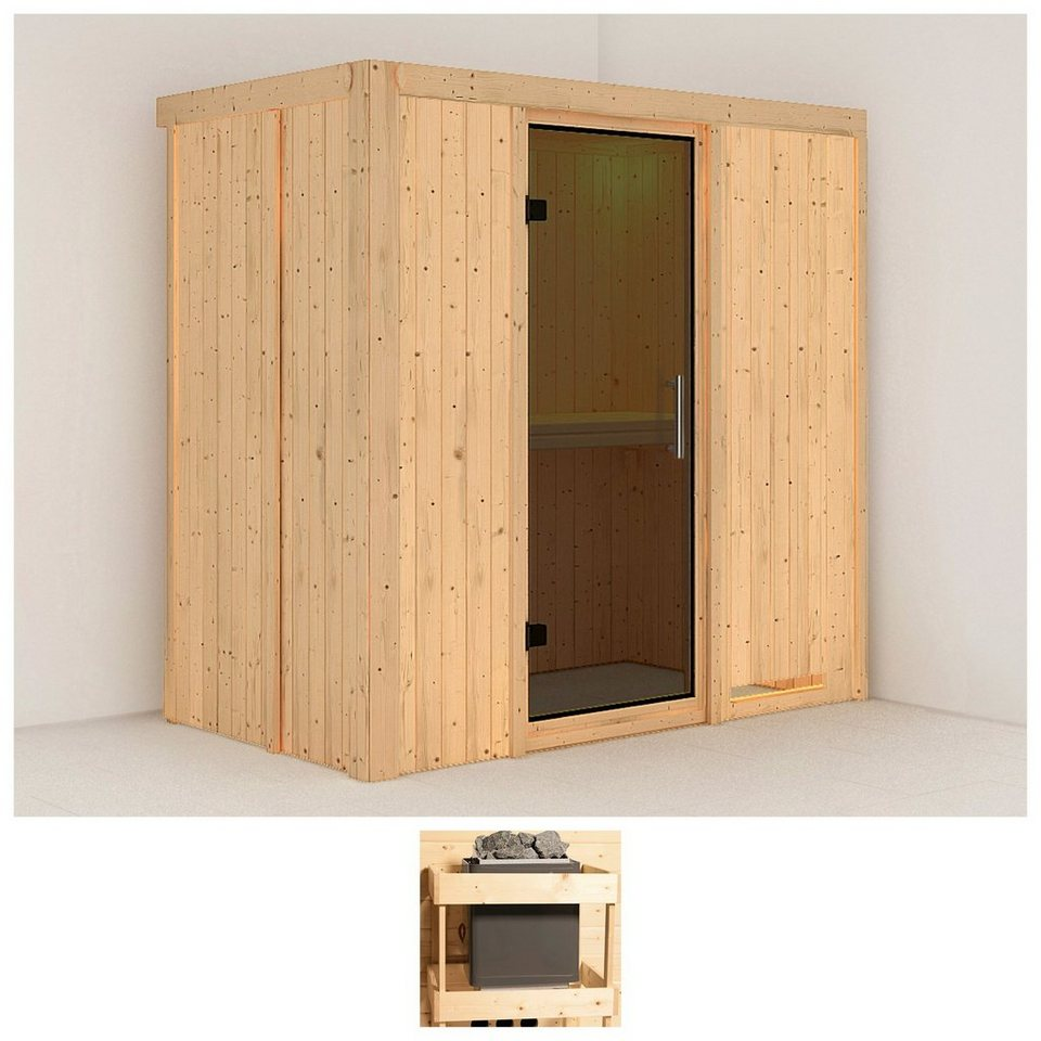 konifera sauna variado 196 118 198 cm ohne ofen glast r grafit online kaufen otto. Black Bedroom Furniture Sets. Home Design Ideas