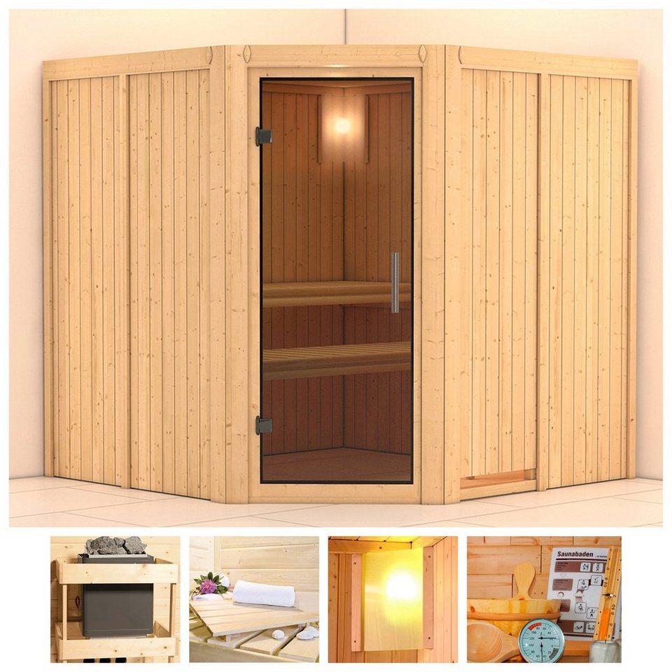 karibu sauna jarin 196 196 198 cm ohne ofen glast r grafit online kaufen otto. Black Bedroom Furniture Sets. Home Design Ideas