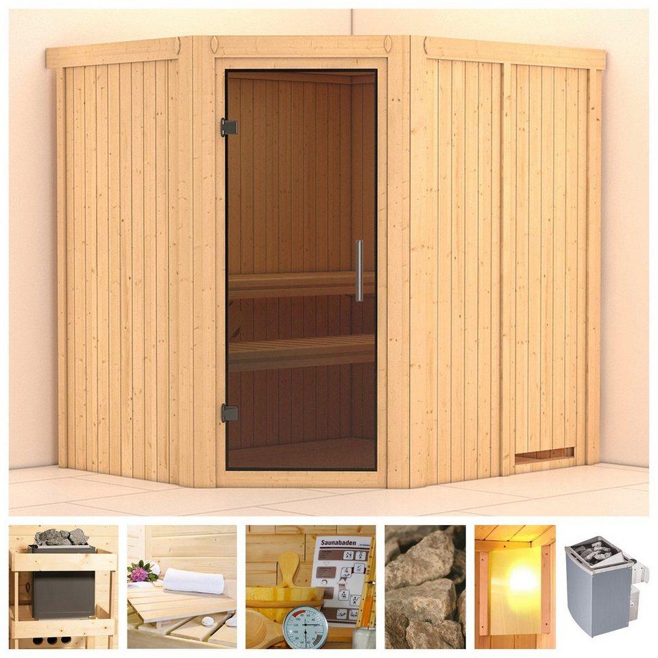 konifera sauna siirin 196 170 198 cm 9 kw ofen mit int steuerung glast r grafit online. Black Bedroom Furniture Sets. Home Design Ideas
