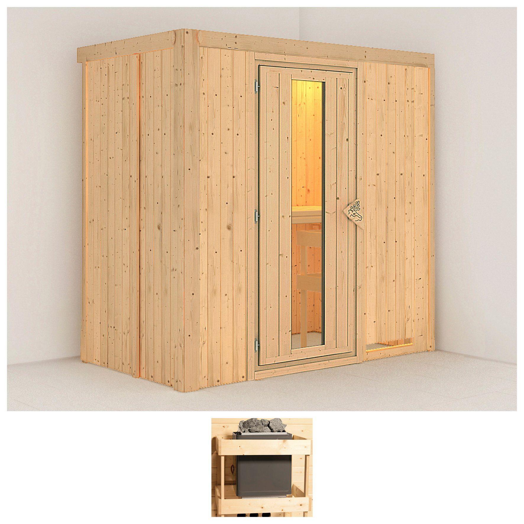 KONIFERA Sauna »Variado«, 196/118/198 cm, ohne Ofen, Holztür