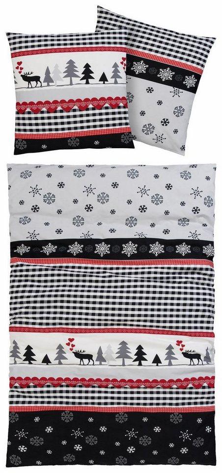 bettw sche rudi casatex mit winterlichen motiven. Black Bedroom Furniture Sets. Home Design Ideas