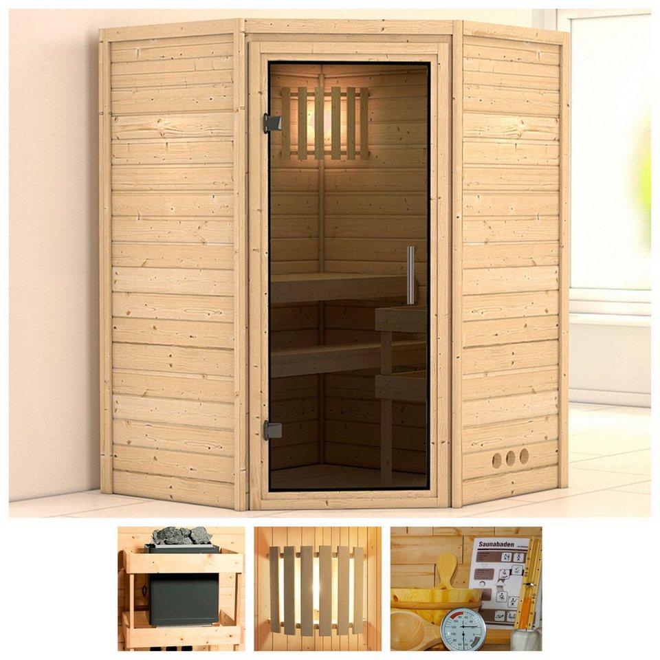 karibu sauna franka 144 144 200 cm ohne ofen glast r grafit online kaufen otto. Black Bedroom Furniture Sets. Home Design Ideas