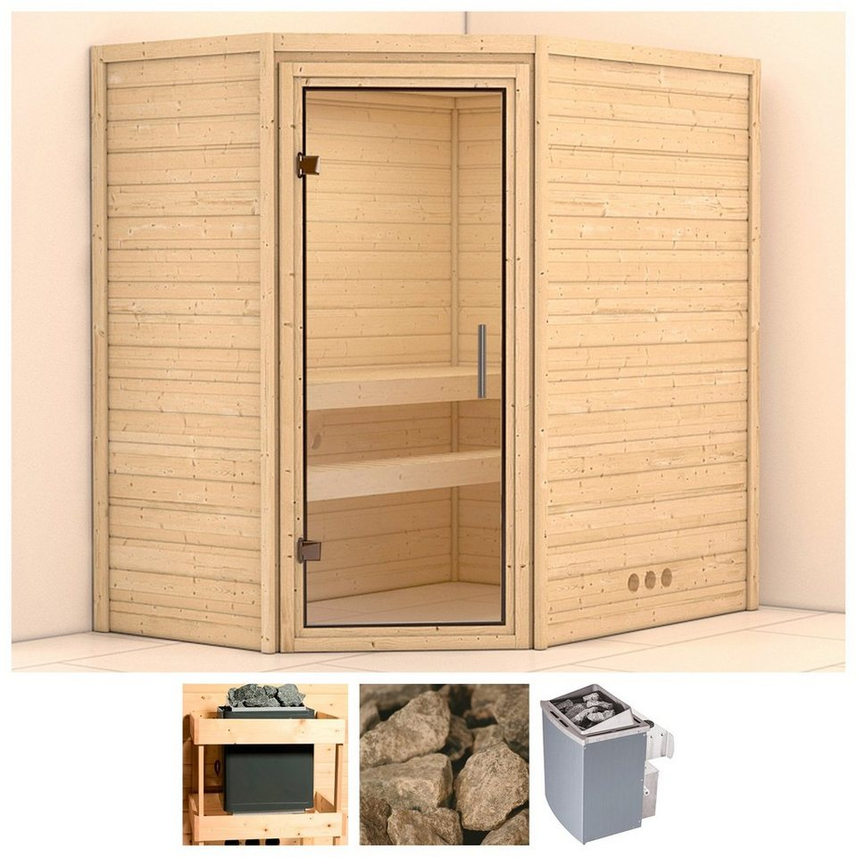 konifera sauna svea 196 146 200 cm 9 kw ofen mit int. Black Bedroom Furniture Sets. Home Design Ideas