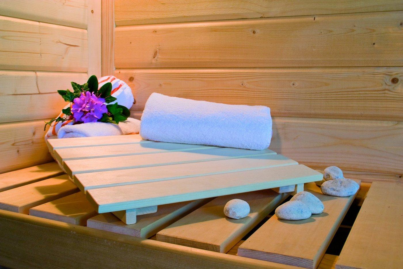 KARIBU Sauna »Sonara«, 236/184/209 cm, ohne Ofen, Holztür