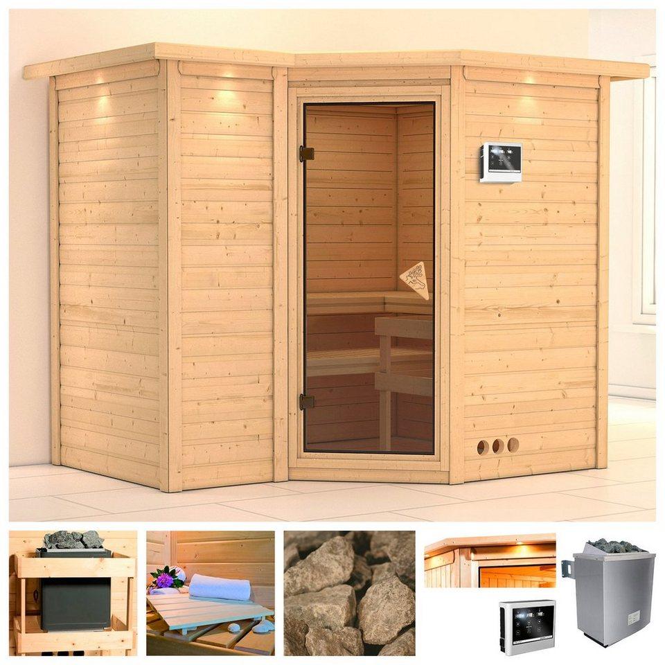 karibu sauna sahib 2 264 198 212 cm 40 mm 9 kw ofen mit ext steuerung online kaufen otto. Black Bedroom Furniture Sets. Home Design Ideas