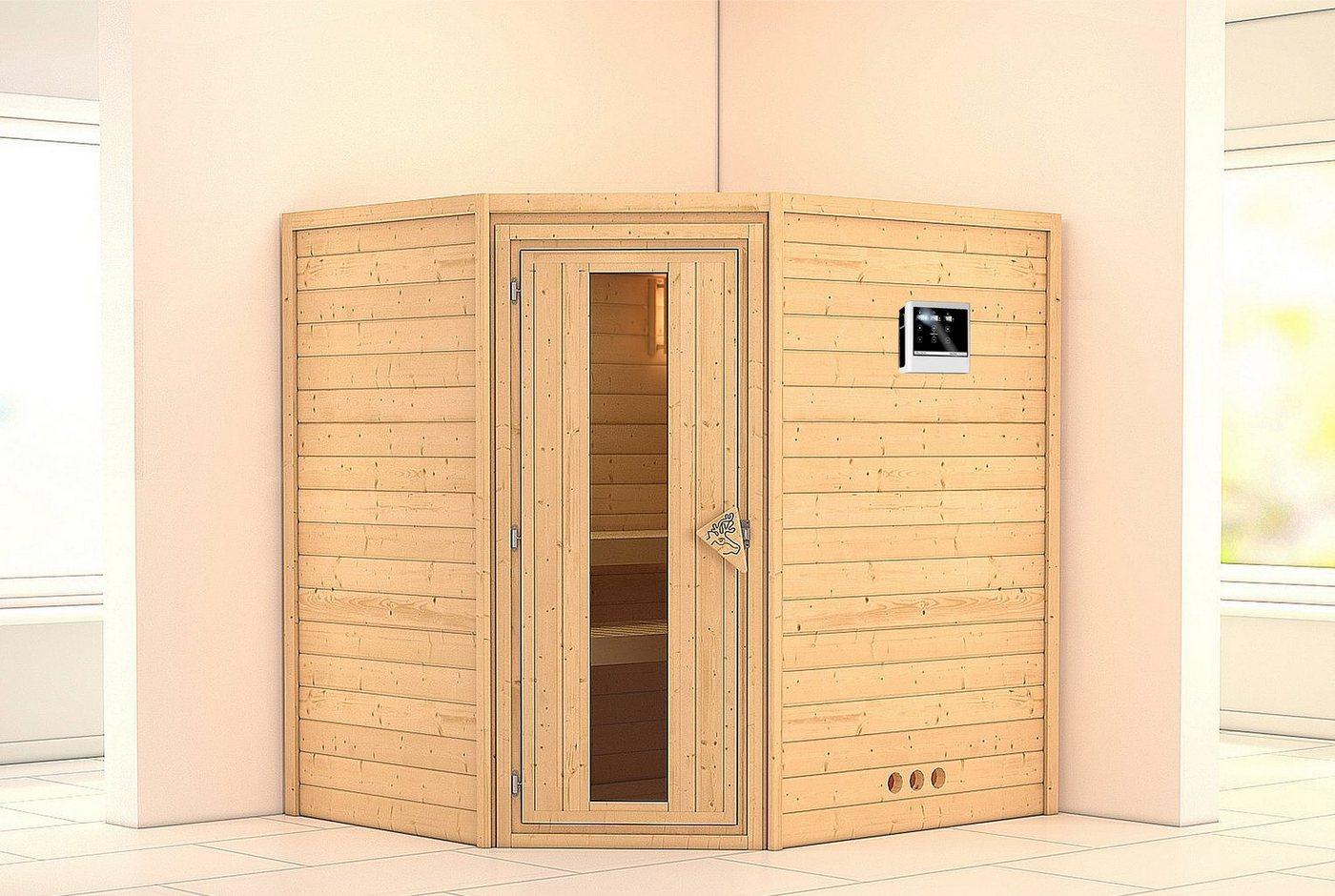 KONIFERA Sauna »Mia«, 196/170/200 cm, 9-kW-Ofen mit ext. Steuerung, Holztür