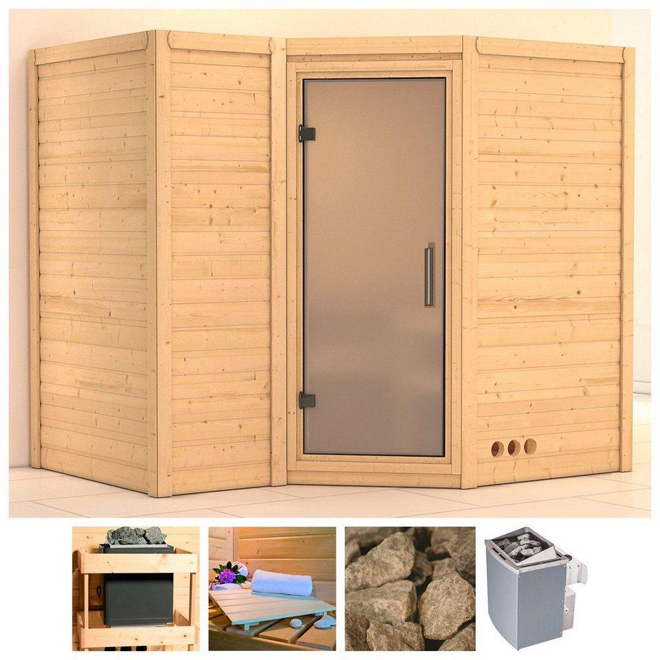 karibu sauna sahib 2 236 184 206 cm 9 kw ofen int steuerung glast r satiniert online. Black Bedroom Furniture Sets. Home Design Ideas