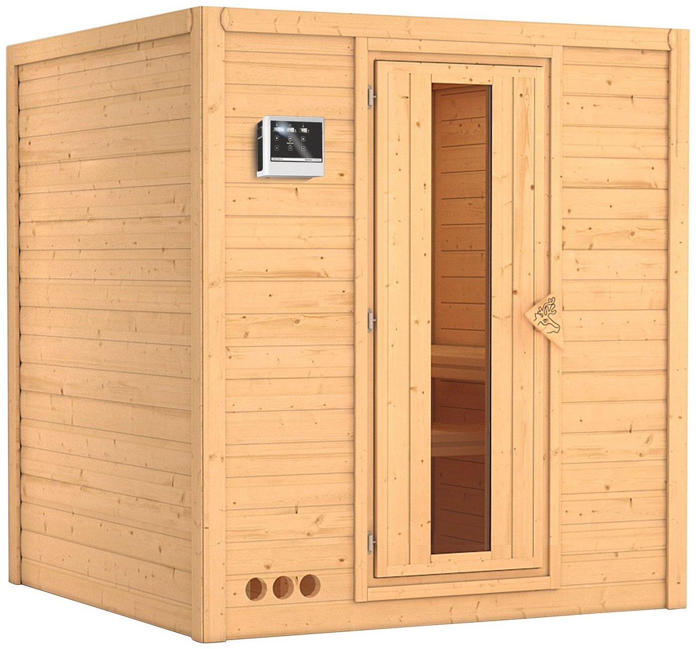 KONIFERA Sauna »Mojave«, 193/184/209 cm, 9-kW-Ofen mit ext. Steuerung, Holztür