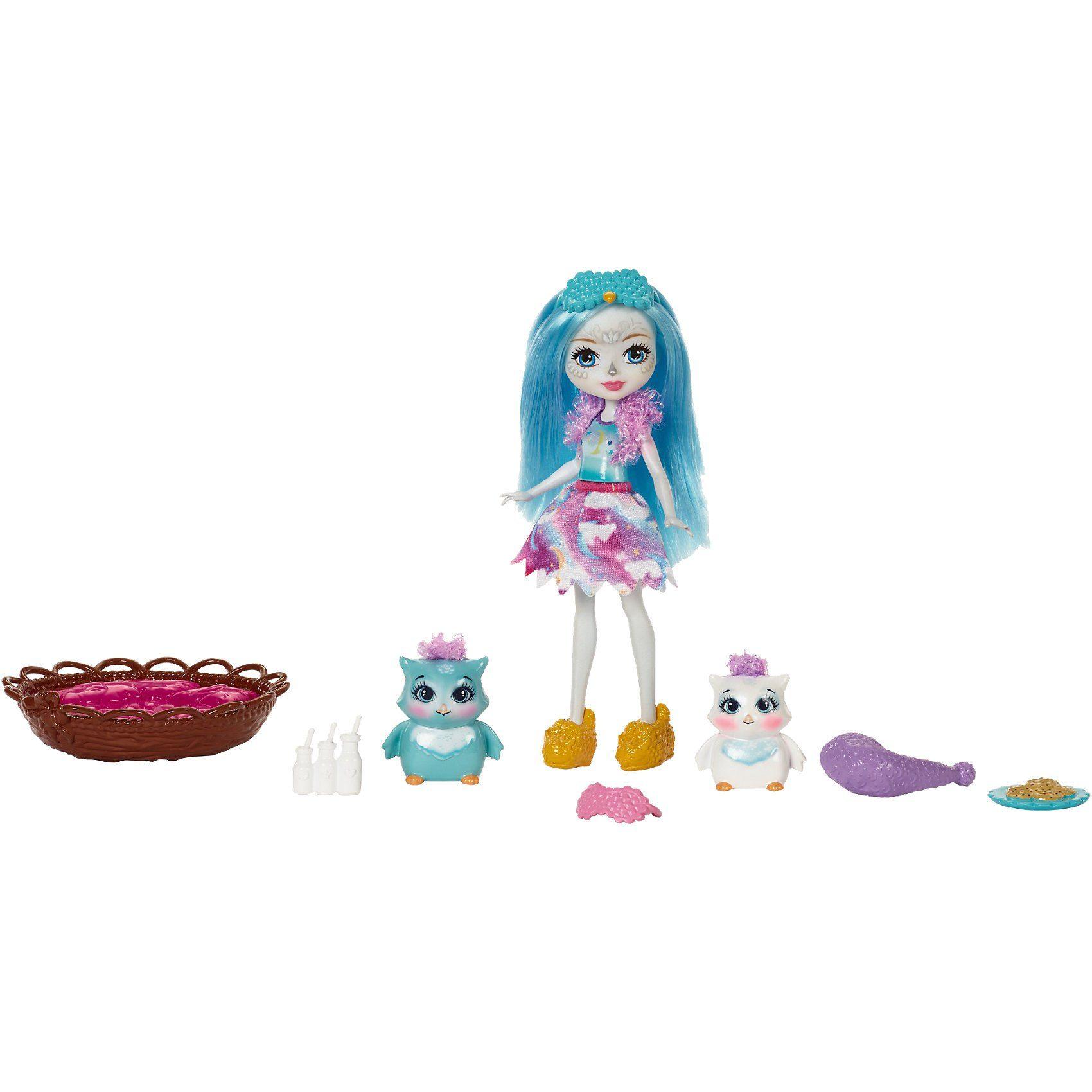 Mattel® Enchantimals Themenpack Nachteulen-Pyjamaparty