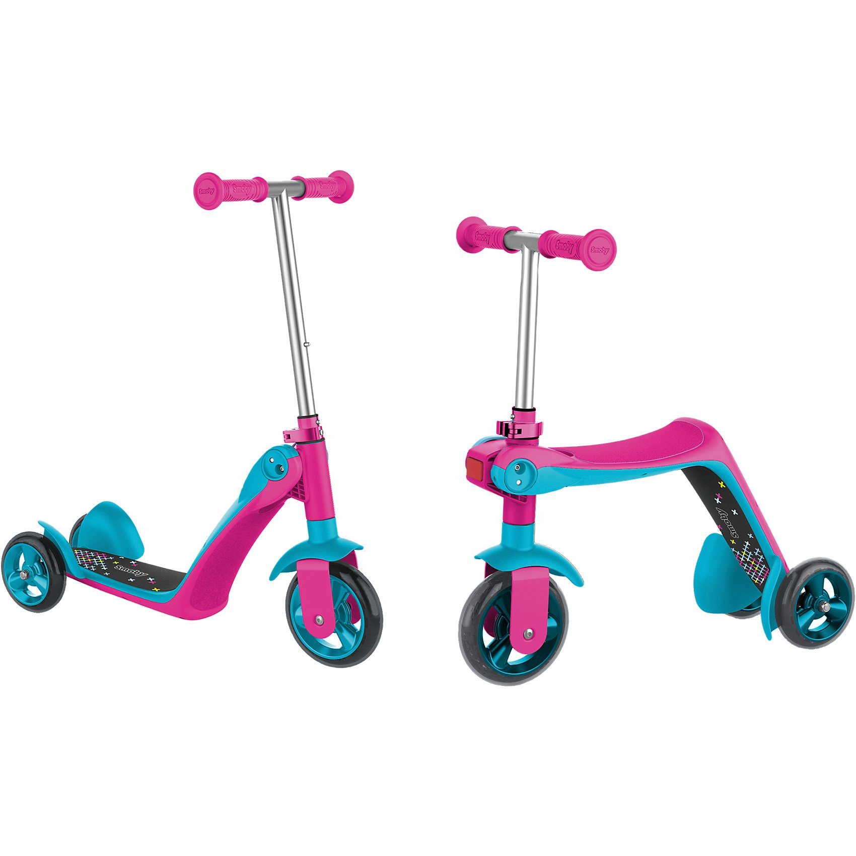 Smoby Scooter Ride 2in1, pink
