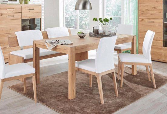 DECKER Esstisch »DERVIO«, aus Massivholz, Breite 160 cm oder 180 cm, auch mit Auszugsfunktion