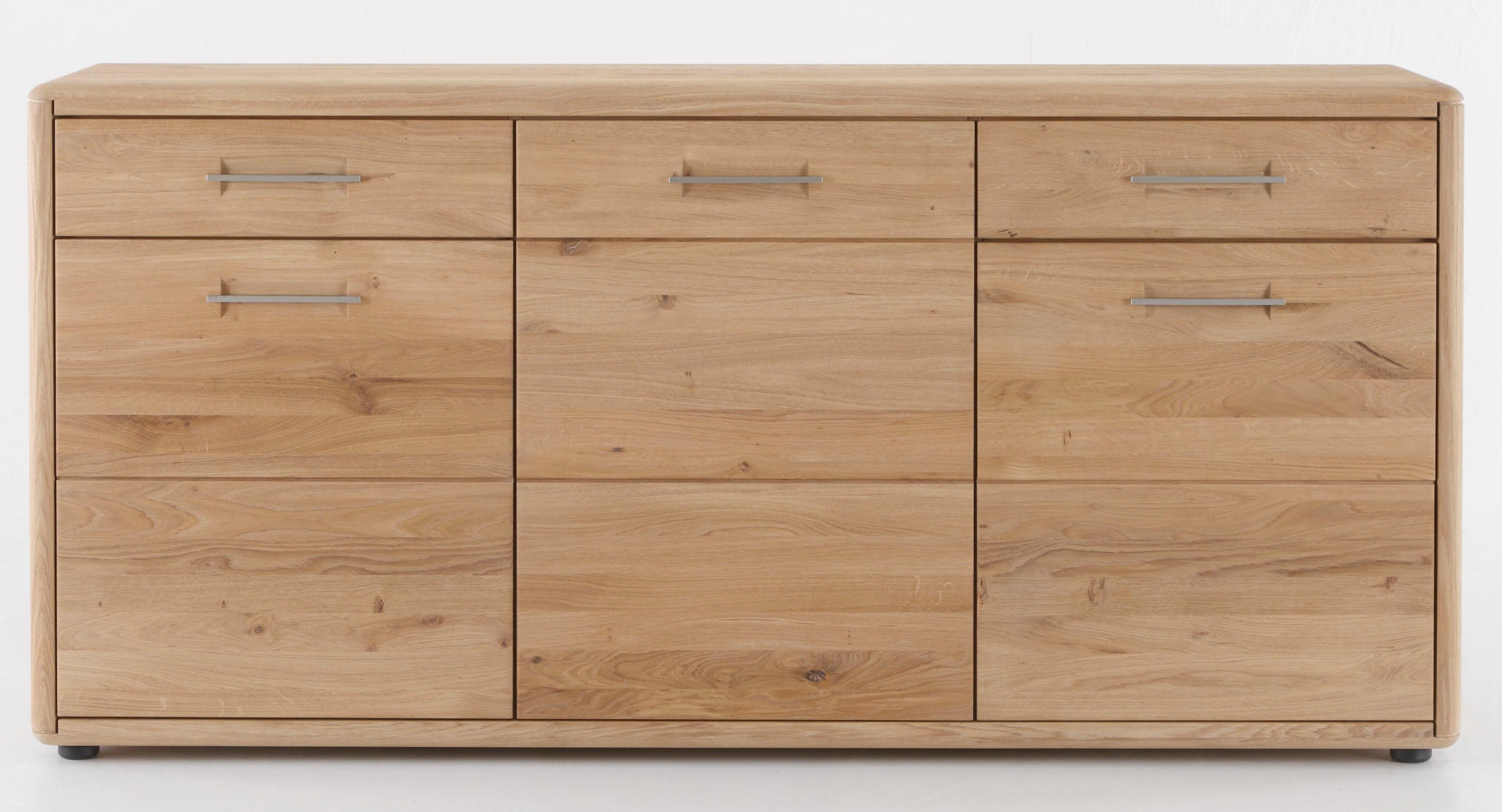 massivraum Sideboard »DERVIO« aus Massivholz, mit zwei Schubladen und drei Türen, Breite 188 cm