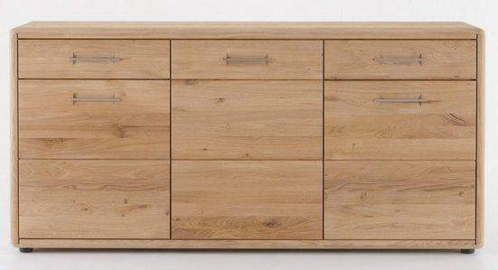 DECKER Sideboard »DERVIO«, aus Massivholz, mit zwei Schubladen und drei Türen, Breite 188 cm