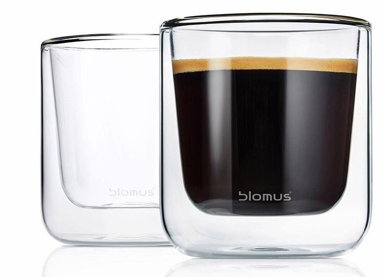 Blomus Kaffee-Gläser, doppelwandig, 2er Set, 200 ml, »NERO«