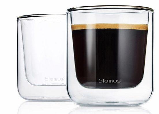 BLOMUS Thermoglas »NERO« (2-tlg), Doppelwandig, Inhalt 200 ml