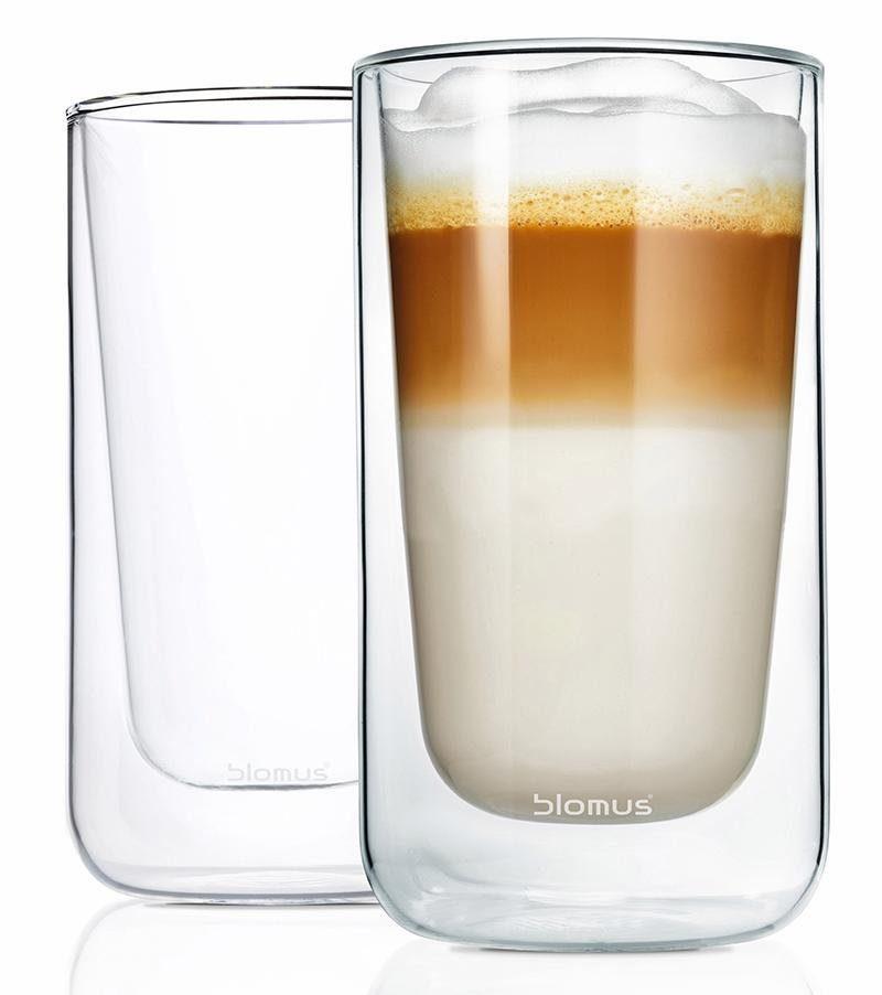 Blomus Latte Macchiato-Gläser, doppelwandig, 2er Set, 320 ml, »NERO«