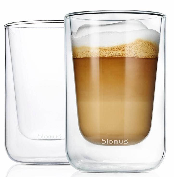 Blomus Cappuccino-Gläser, doppelwandig, 2er Set, 250 ml, »NERO«