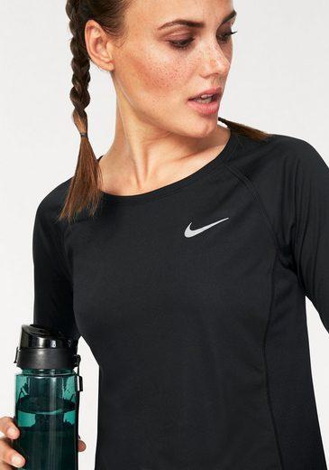 Nike Laufshirt WOMEN NIKE DRY MILER TOP LONGSLEEVE