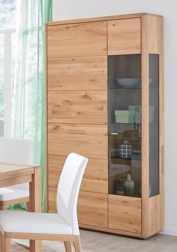 massivraum vitrinenschrank dervio aus massivholz mit glaseinsatz h he 202 cm online kaufen. Black Bedroom Furniture Sets. Home Design Ideas