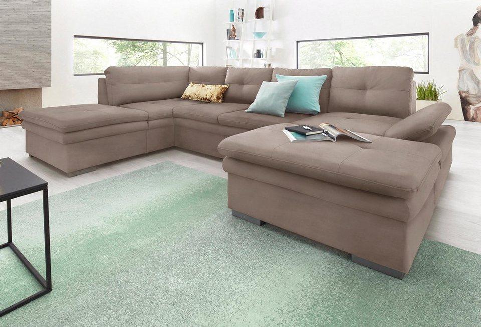cotta wohnlandschaft mit sitztiefenverstellung wahlweise mit bettfunktion online kaufen otto. Black Bedroom Furniture Sets. Home Design Ideas