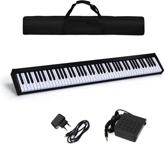 COSTWAY Digitalpiano »tragbares elektronisches Musikinstrument«, 88 Tasten, mit Tragetasche