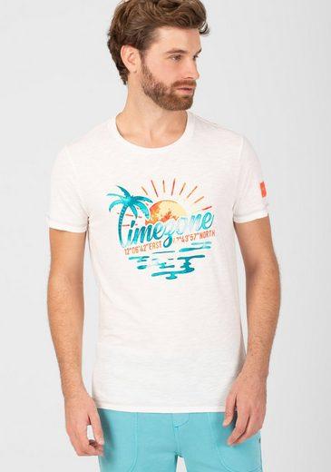 TIMEZONE T-Shirt »Watercolor Palms T-Shirt«
