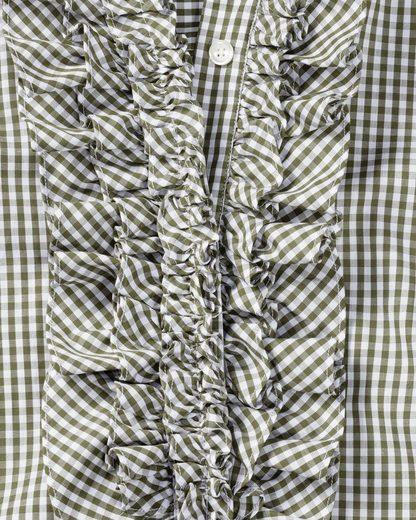 Reitmayer Vichykaro-Rüschenbluse