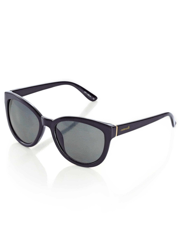 Alba Moda Sonnenbrille in leichter Schmetterlingsform, schwarz, schwarz